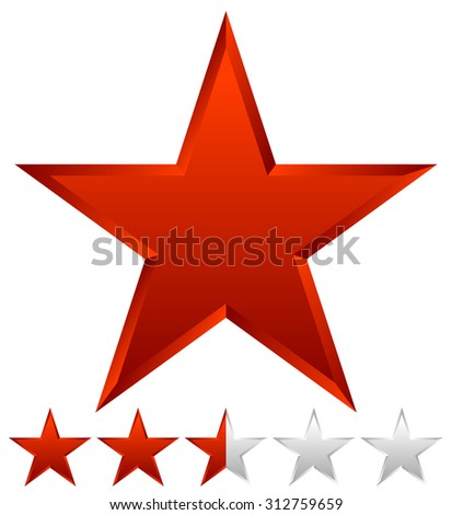 3d beveled star with rating