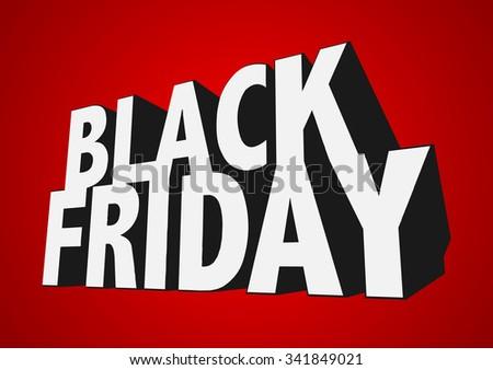 3d black friday sale text