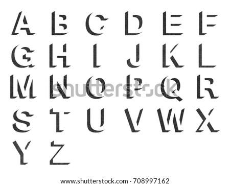 Super Lettre manuscrit minuscule Lettres Alphabet - Téléchargez de l'art  PN45