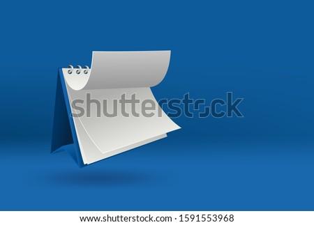 3d blank calendar template with