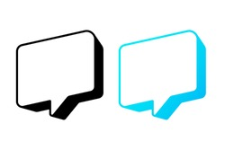 3D blank empty vector speech bubbles. Chat, inbox, dialog, message, question, communication, talk, speak, sticker, balloon, thinking