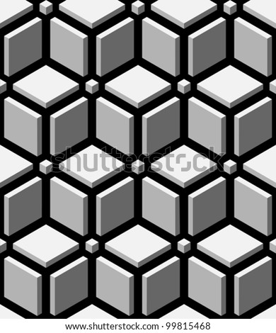 3d blocks seamless pattern