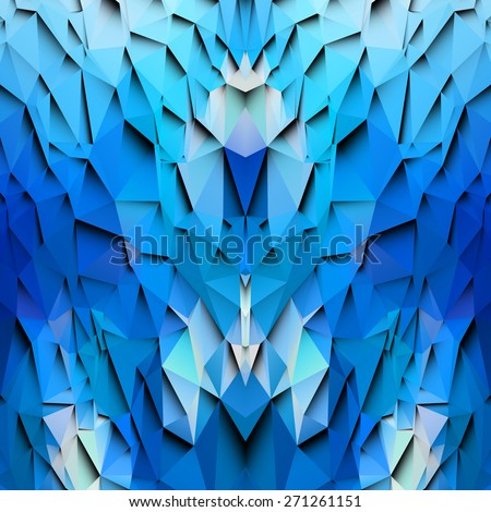 3d blue colored paper