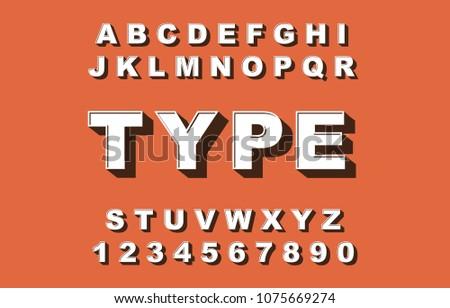 Set of Beveled Alphabet - Download Free Vector Art, Stock Graphics
