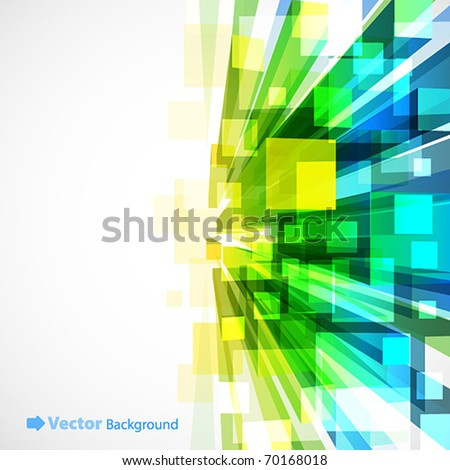 3d bright abstract background with transparent cubes - vector illustration