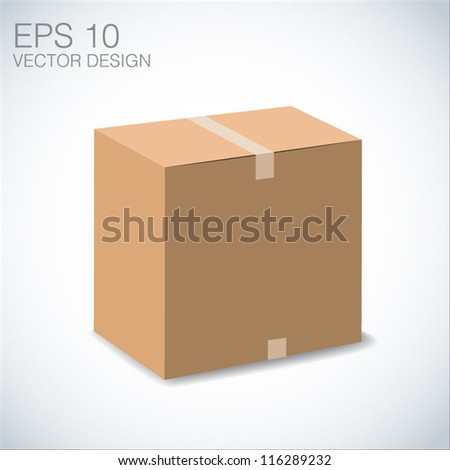 3d brown Recycle box, illustration