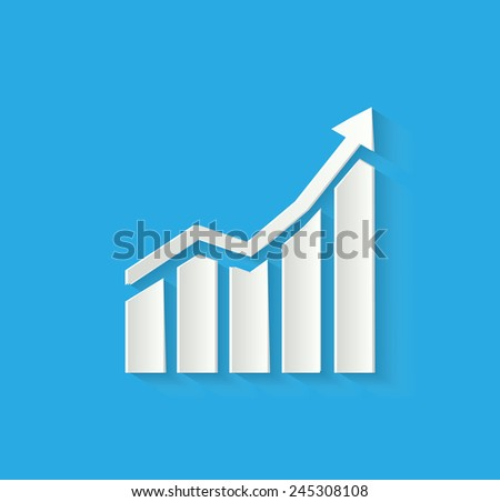 3d business chart icon