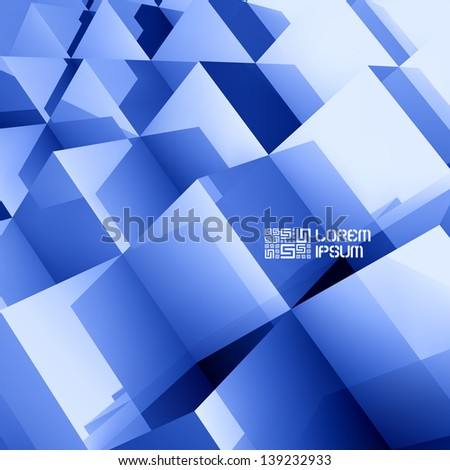 3D business illustration. Vector background. - stock vector
