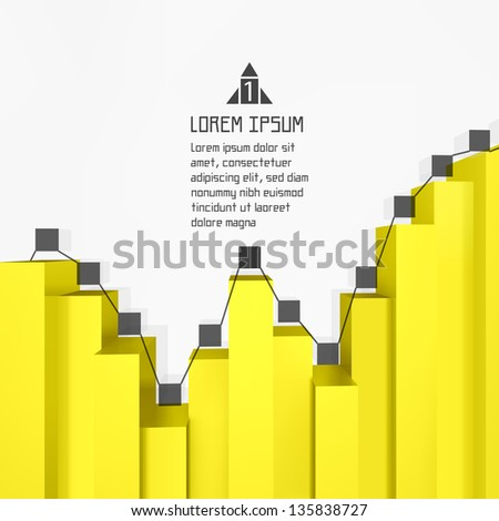 3d business template. Vector illustration.