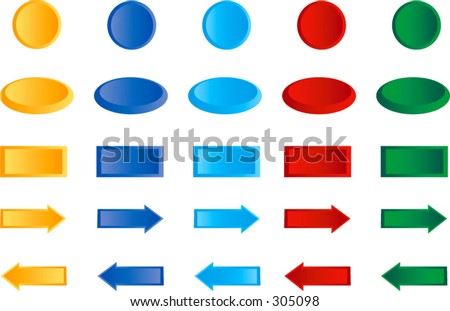 3d Buttons - Highlight and shadow are on separate layers.  The buttons are resizeable.