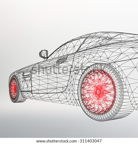 3d car model sports car the