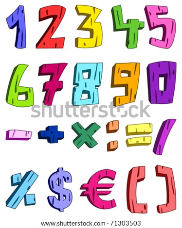 3d cartoon numbers
