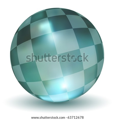 3D Checker Crystal Ball (Vector)