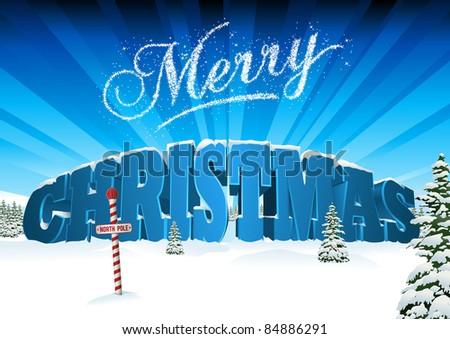 3d christmas card scene