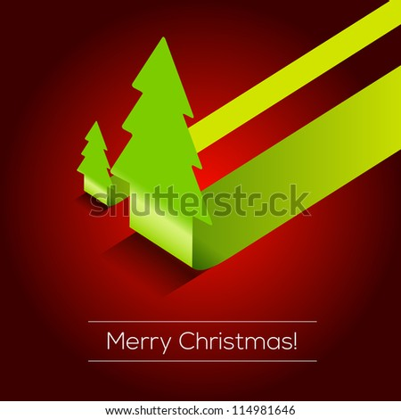 3D Christmas tree vector background | EPS10 Design