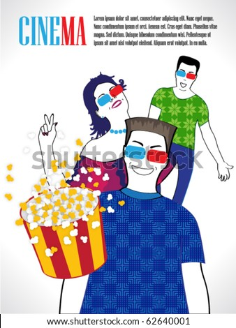 3d cinema people watch film