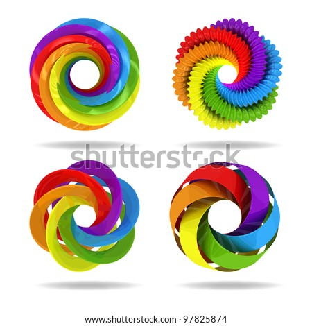 3d circle colorful elements. Vector illustration