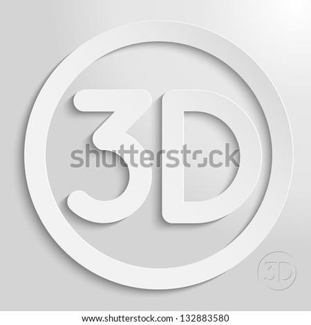 3d circle eps10 vector icon