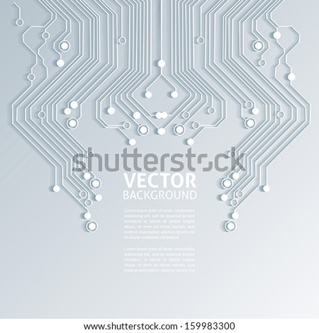 3D circuit board background texture vector