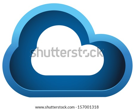 3d Cloud icon, Sky, cloud-computing, storm, meteorology vector illustration (icon).