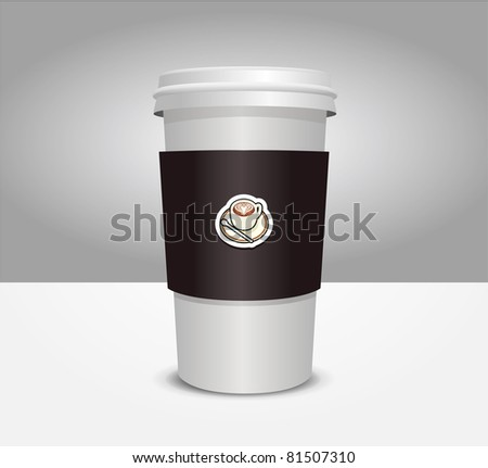 3d coffee cup vector illustration