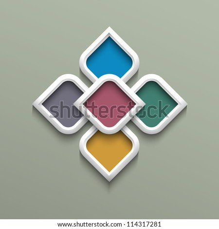 3d color pattern in arabic style. Vector illustration