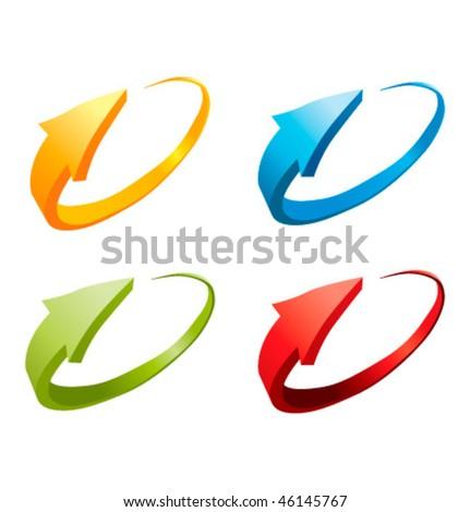 3d colorful arrows