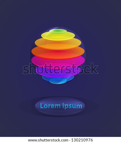 3d colorful ball in color