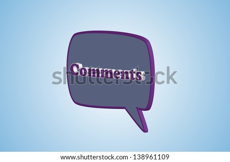 3d Comments icon or symbol