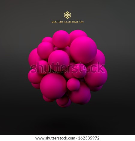 3d concept illustration vector