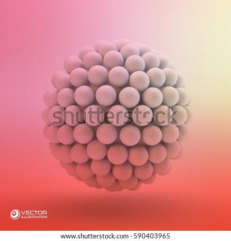 3d concept illustration vector