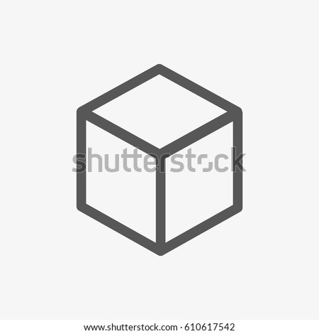 3d cube logo design icon, vector illustration. Flat design style