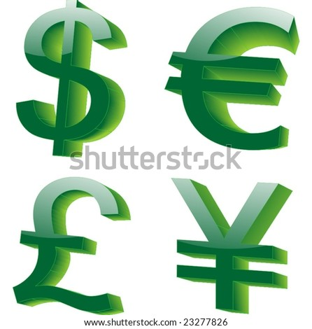 Restaurants leave the different currencya list of these currency Signs and