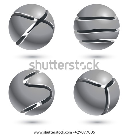 3d cut metal sphere signs...