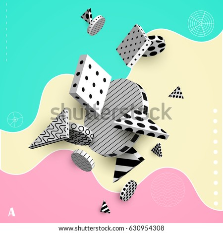3d decorative elements with