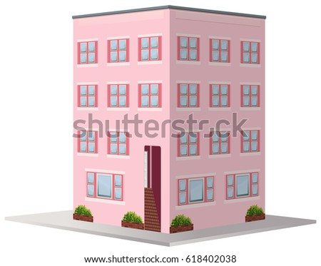3D Design For Apartment Building Illustration