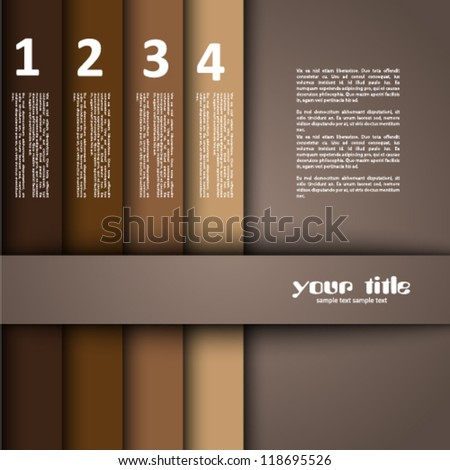 3d design with brown numbered banners