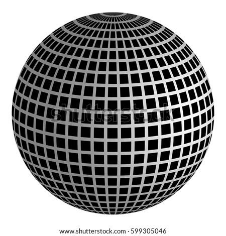 3d disco ball mirror ball