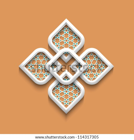 3d elegant pattern in arabic style.Vector illustration