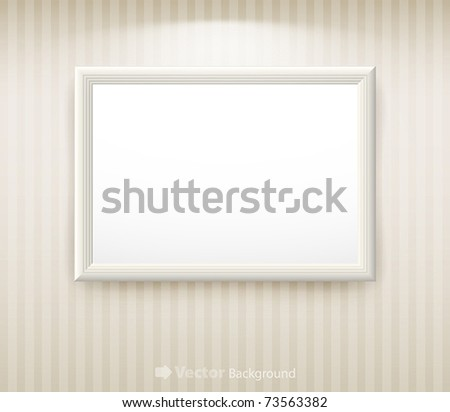 3d empty frame on the wall. Vintage background