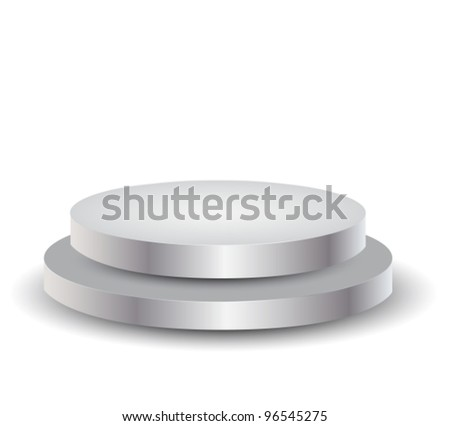 3d Empty white podium over white,vector illustration
