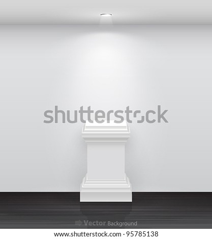 3d Empty White Stand For Your