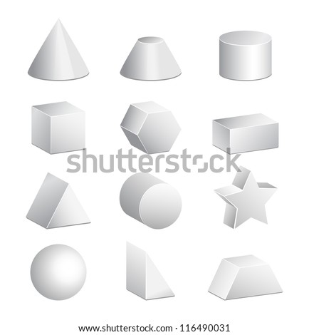 3d figures in vector