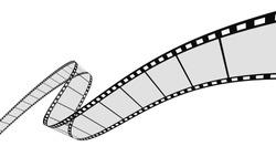 3d Film Strip. White background.
