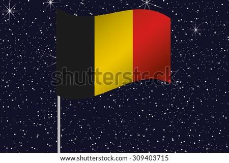 3d flag illustration waving in