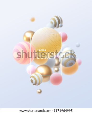 3d flowing spheres vector