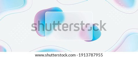 3d fluid creative background. Glassmorphism style new trend 2021. Frosted glass effect. Pastel colours: pink, purple, blue on white backdrop. Curved line graphic design. Sale banner. Blurred gradient