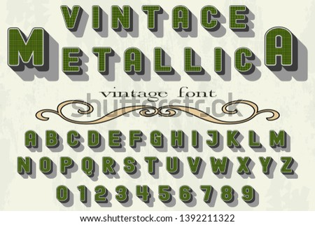 3d font handcrafted typeface