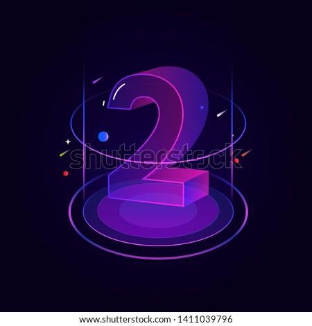 3d futuristic blue purple line