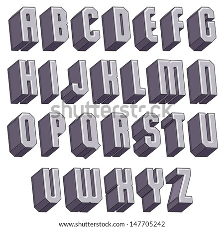 royalty free 3d font geometric dimensional letters 302168462